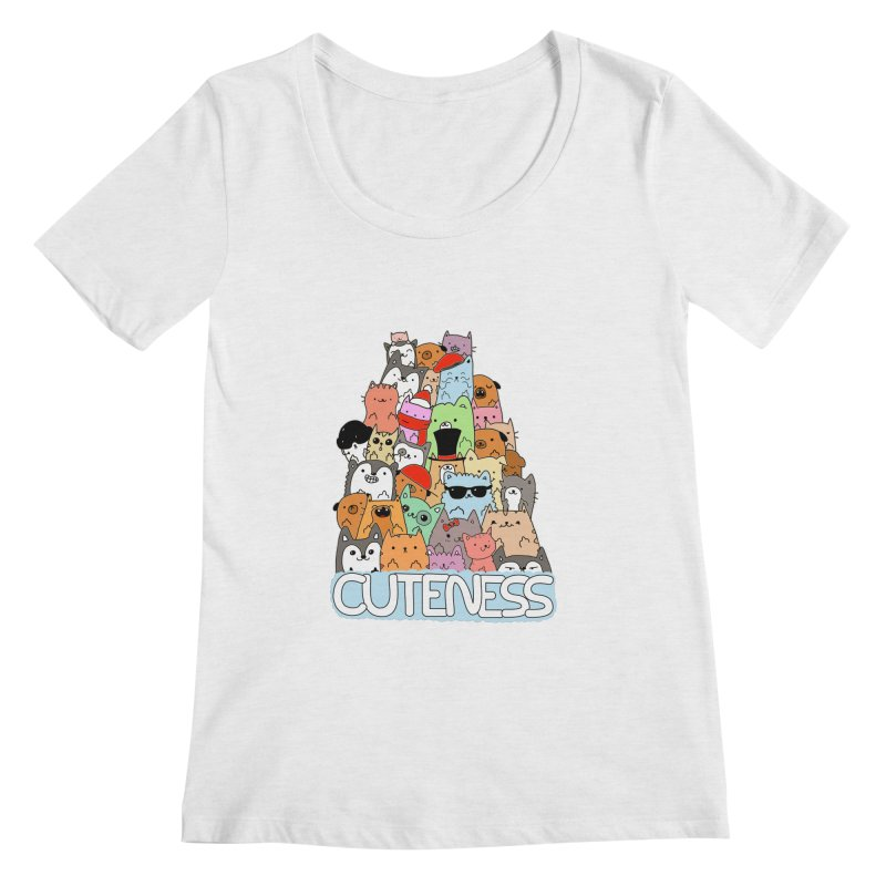 Cuteness Women's Regular Scoop Neck by oneweirddude's Artist Shop