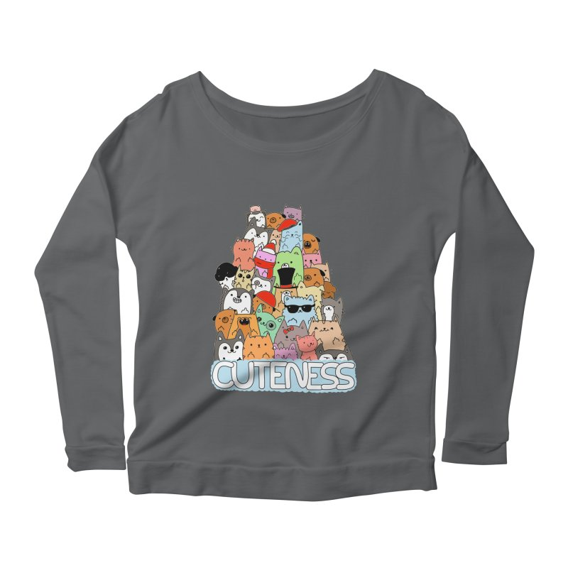 Cuteness Women's Scoop Neck Longsleeve T-Shirt by oneweirddude's Artist Shop