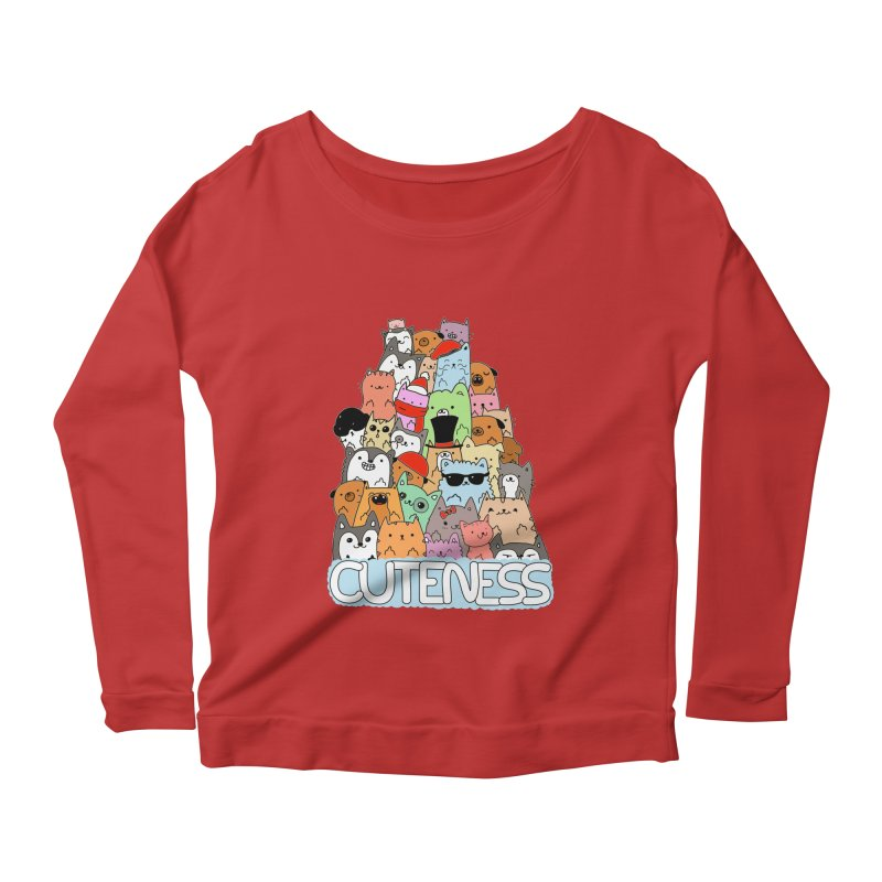 Cuteness Women's Scoop Neck Longsleeve T-Shirt by oneweirddude's Artist Shop