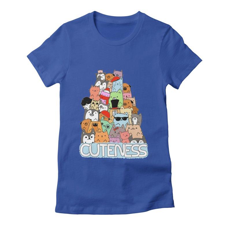 Cuteness Women's Fitted T-Shirt by oneweirddude's Artist Shop