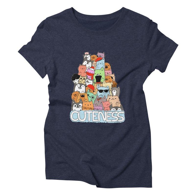 Cuteness Women's Triblend T-Shirt by oneweirddude's Artist Shop