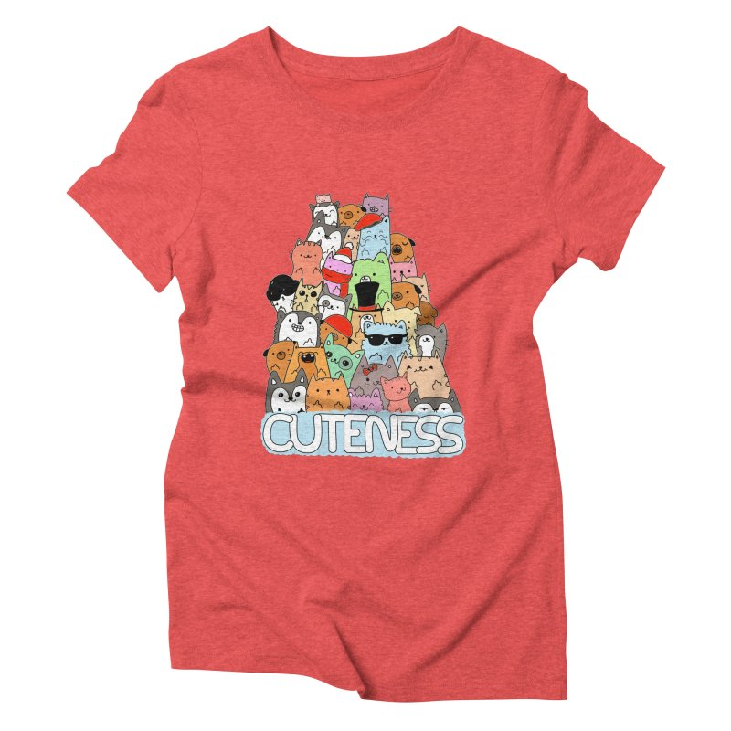 Cuteness Women's Triblend T-Shirt by oneweirddude's Artist Shop