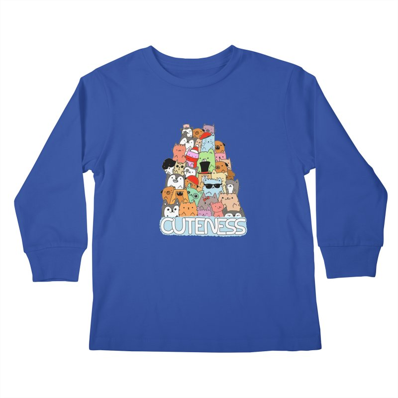 Cuteness Kids Longsleeve T-Shirt by oneweirddude's Artist Shop