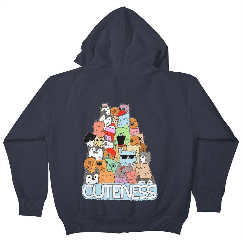 Cuteness Kids Zip-Up Hoody by oneweirddude's Artist Shop