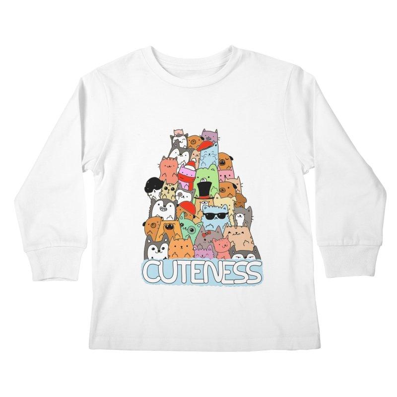 Cuteness Kids Longsleeve T-Shirt by oneweirddude's Artist Shop