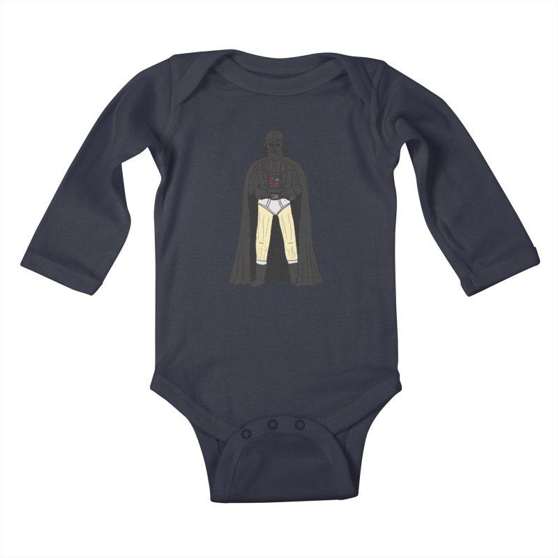 Dark Lord Working from Home Kids Baby Longsleeve Bodysuit by oneweirddude's Artist Shop