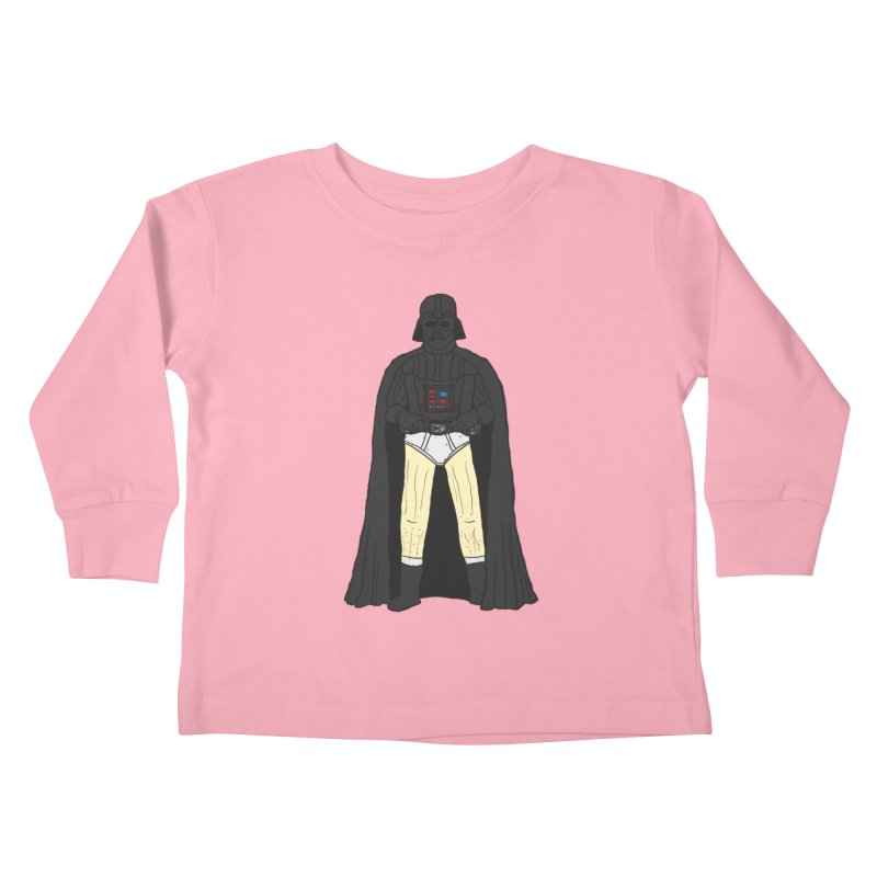 Dark Lord Working from Home Kids Toddler Longsleeve T-Shirt by oneweirddude's Artist Shop
