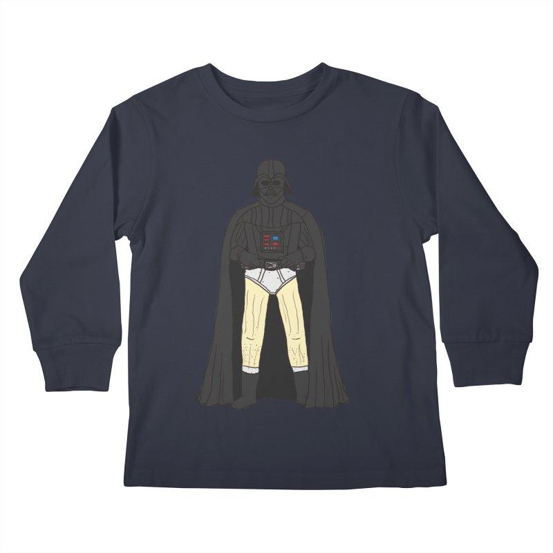Dark Lord Working from Home Kids Longsleeve T-Shirt by oneweirddude's Artist Shop