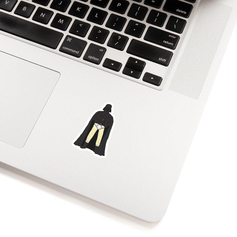 Dark Lord Working from Home Accessories Sticker by oneweirddude's Artist Shop