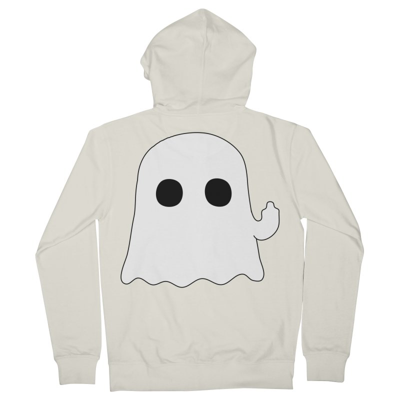 Boo Women's French Terry Zip-Up Hoody by oneweirddude's Artist Shop