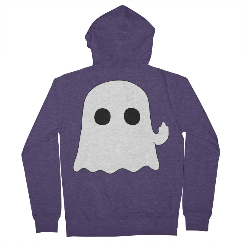 Boo Men's French Terry Zip-Up Hoody by oneweirddude's Artist Shop
