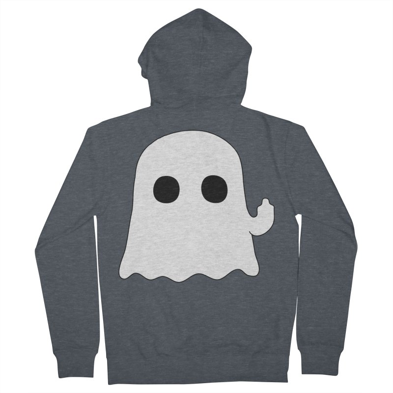 Boo Men's Zip-Up Hoody by oneweirddude's Artist Shop