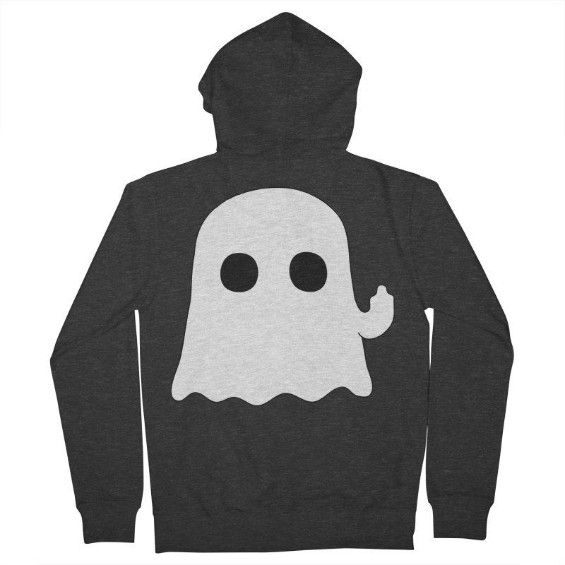 Boo Men's Zip-Up Hoody by oneweirddude's Artist Shop