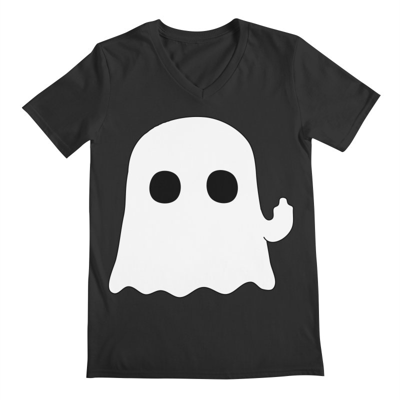 Boo Men's V-Neck by oneweirddude's Artist Shop