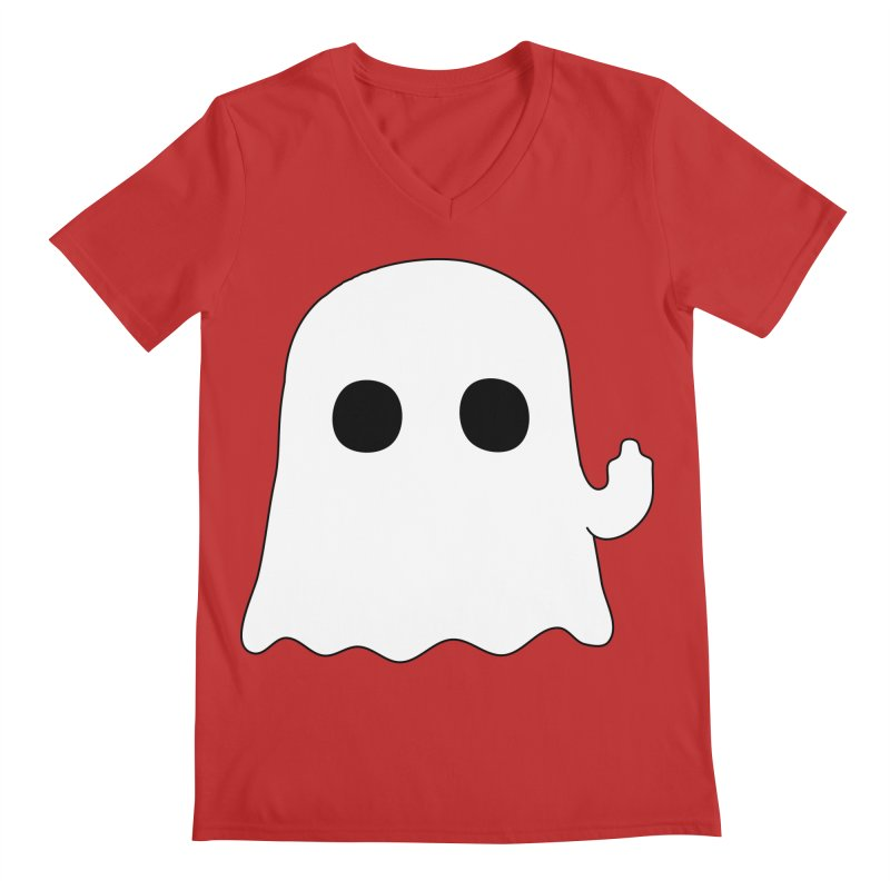 Boo Men's Regular V-Neck by oneweirddude's Artist Shop