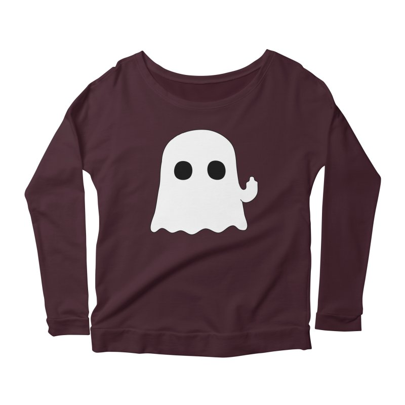 Boo Women's Scoop Neck Longsleeve T-Shirt by oneweirddude's Artist Shop