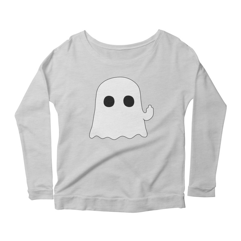 Boo Women's Scoop Neck Longsleeve T-Shirt by oneweirddude's Artist Shop
