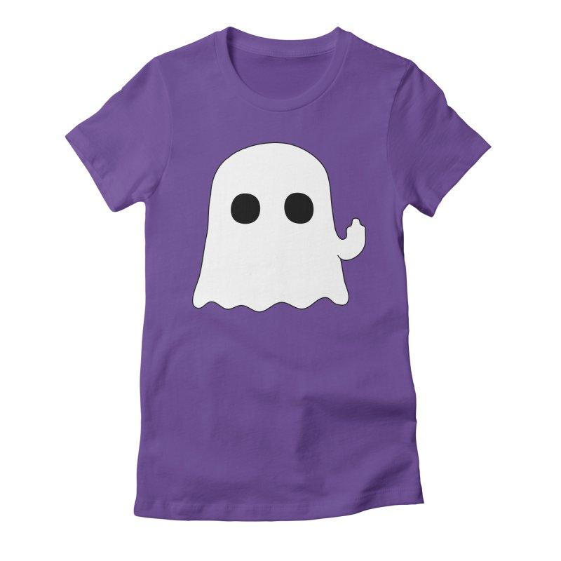 Boo Women's Fitted T-Shirt by oneweirddude's Artist Shop