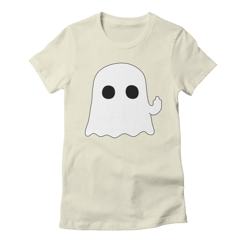 Boo Women's Fitted T-Shirt by oneweirddude's Artist Shop