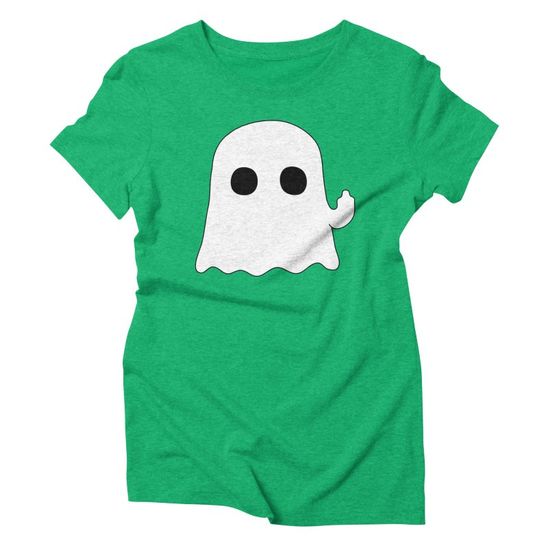 Boo Women's Triblend T-Shirt by oneweirddude's Artist Shop
