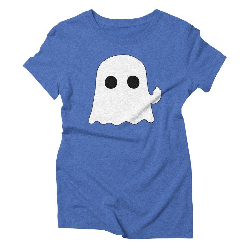 Boo Women's Triblend T-Shirt by oneweirddude's Artist Shop