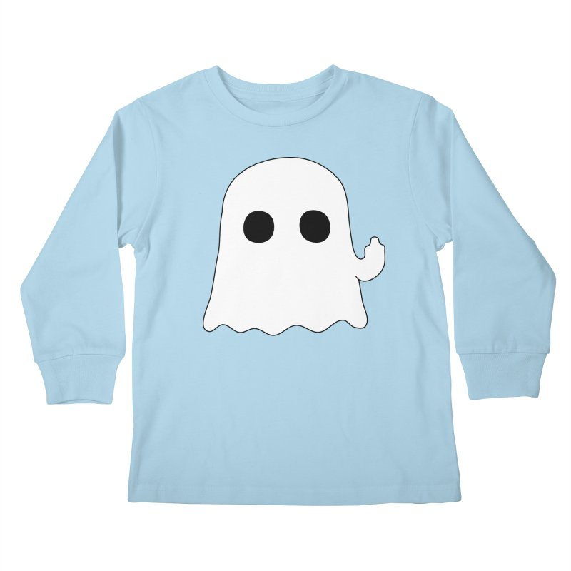 Boo Kids Longsleeve T-Shirt by oneweirddude's Artist Shop