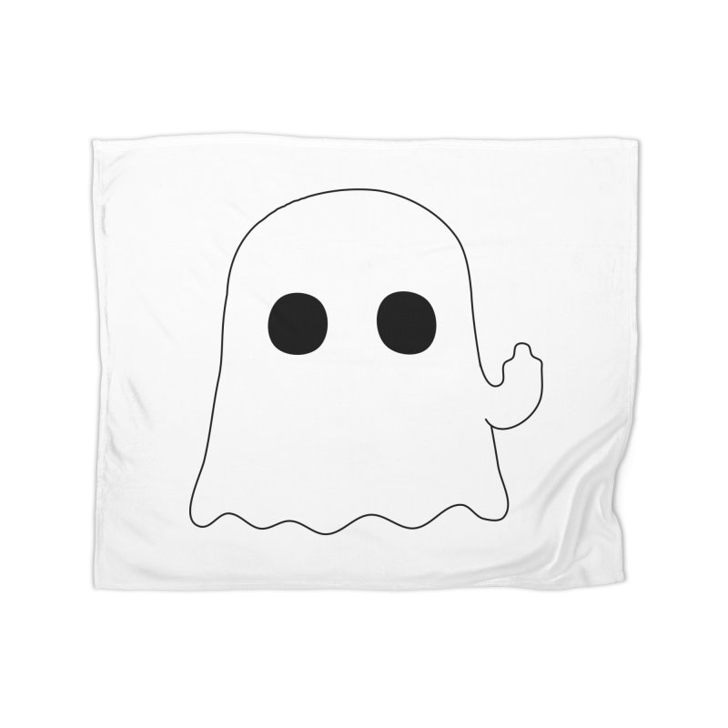 Boo Home Fleece Blanket Blanket by oneweirddude's Artist Shop