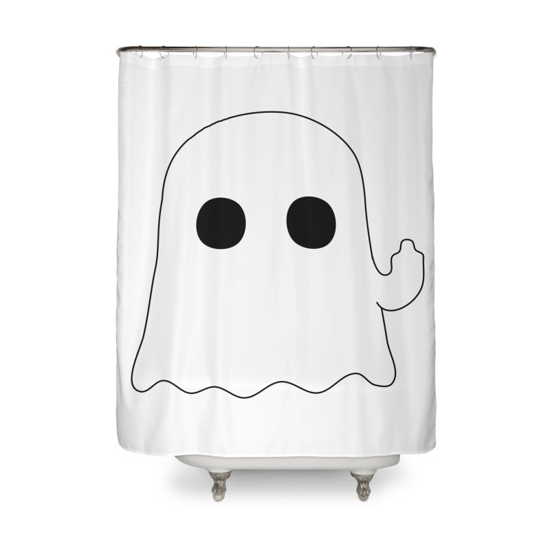 Boo Home Shower Curtain by oneweirddude's Artist Shop