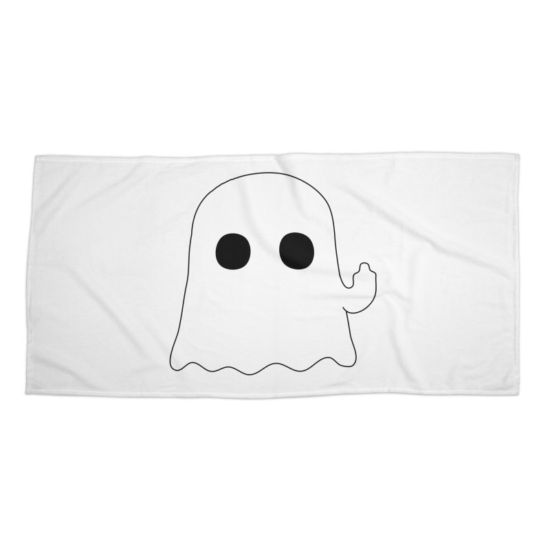 Boo Accessories Beach Towel by oneweirddude's Artist Shop