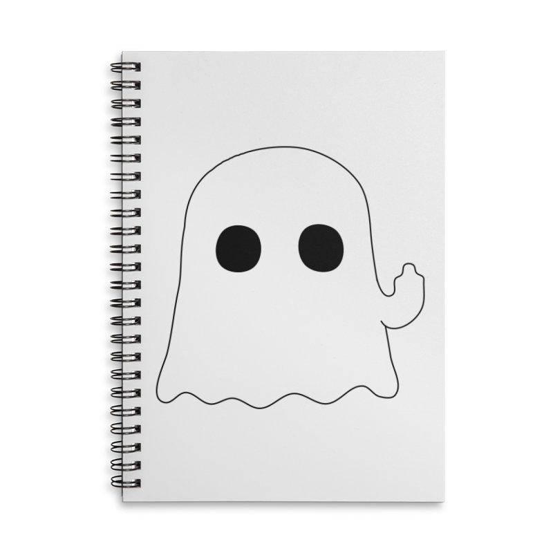 Boo Accessories Lined Spiral Notebook by oneweirddude's Artist Shop