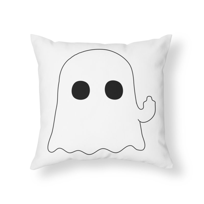Boo Home Throw Pillow by oneweirddude's Artist Shop