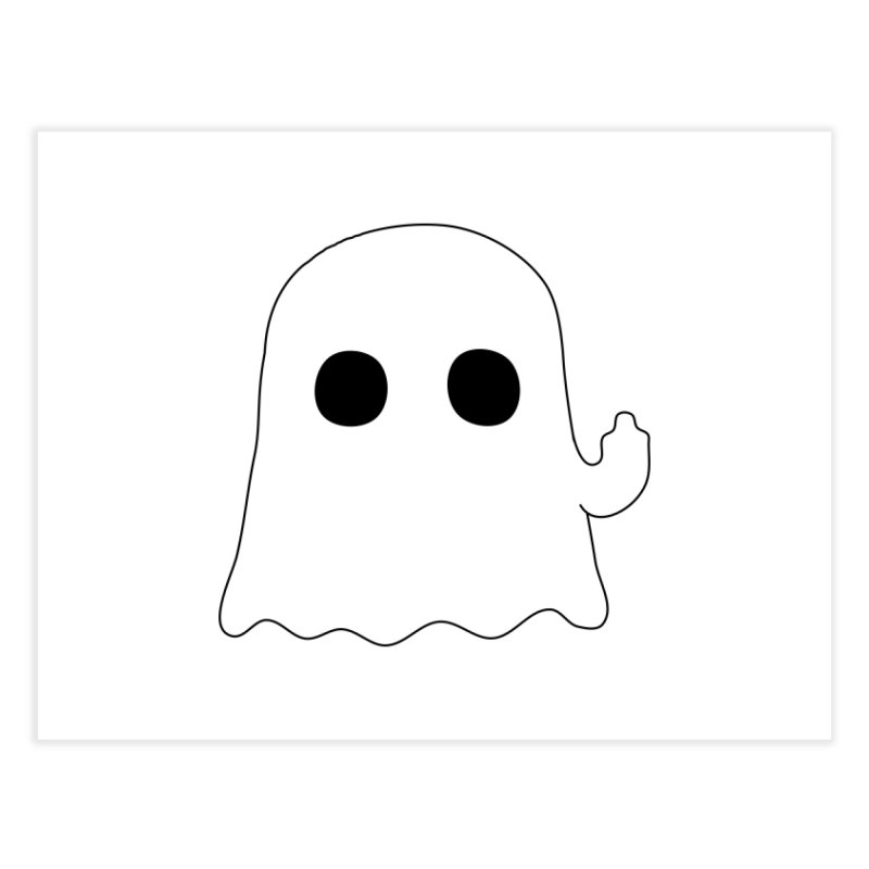 Boo Home Fine Art Print by oneweirddude's Artist Shop