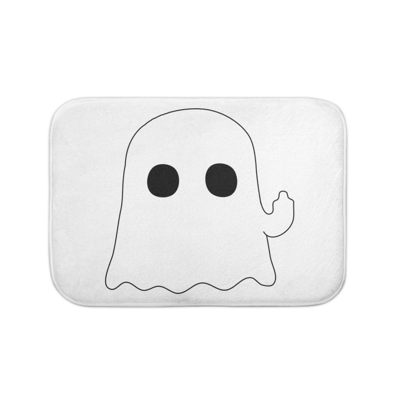 Boo Home Bath Mat by oneweirddude's Artist Shop