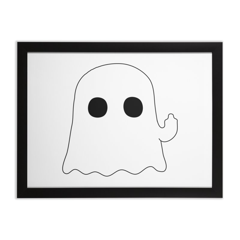 Boo Home Framed Fine Art Print by oneweirddude's Artist Shop