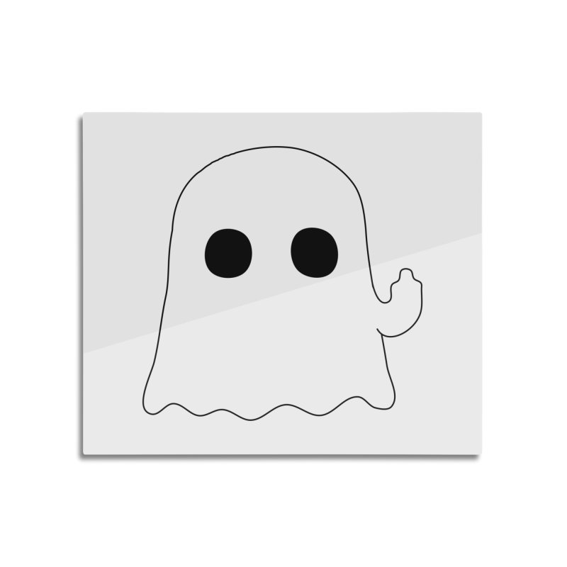 Boo Home Mounted Aluminum Print by oneweirddude's Artist Shop