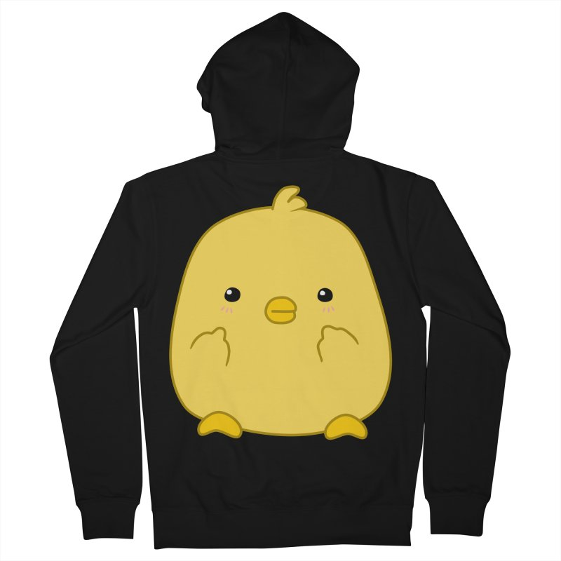 Cute Chick Has Had Enough Men's French Terry Zip-Up Hoody by oneweirddude's Artist Shop