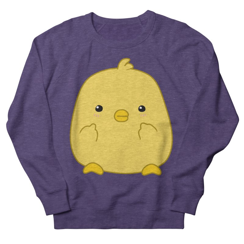 Cute Chick Has Had Enough Men's French Terry Sweatshirt by oneweirddude's Artist Shop