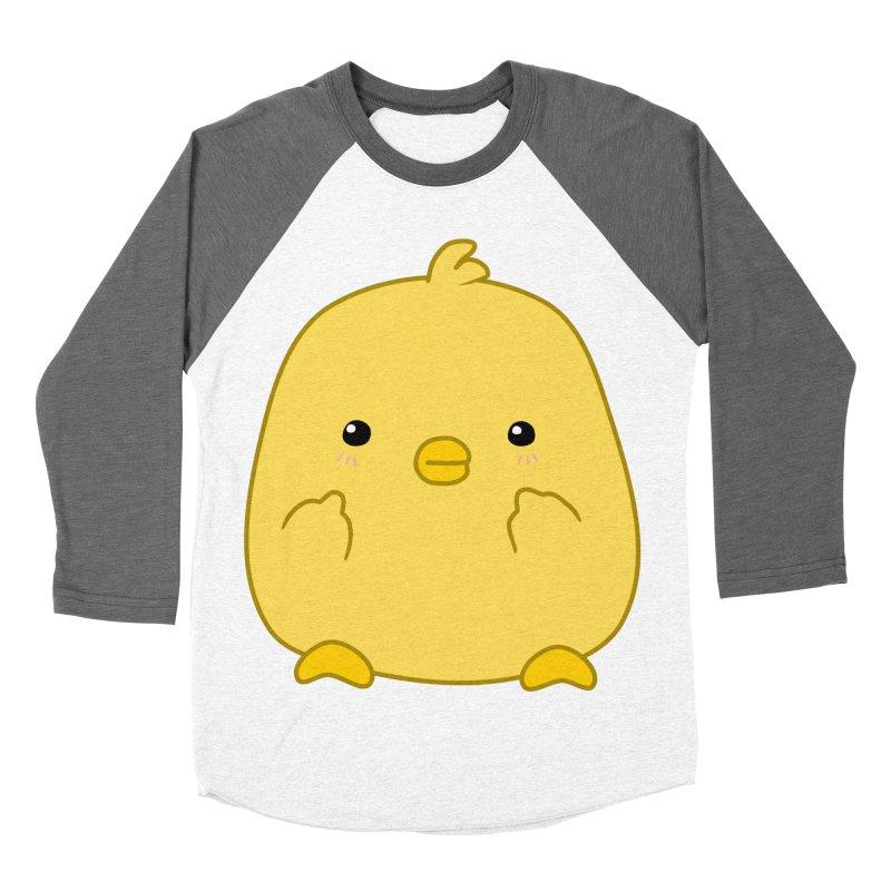 Cute Chick Has Had Enough Men's Baseball Triblend Longsleeve T-Shirt by oneweirddude's Artist Shop