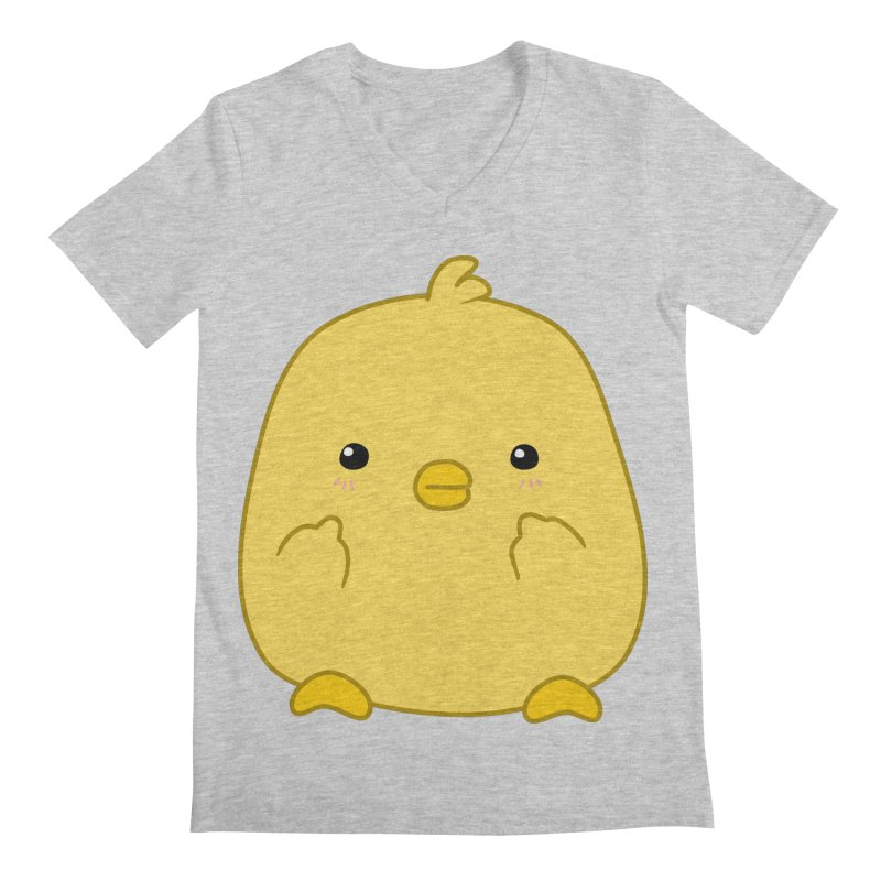 Cute Chick Has Had Enough Men's Regular V-Neck by oneweirddude's Artist Shop