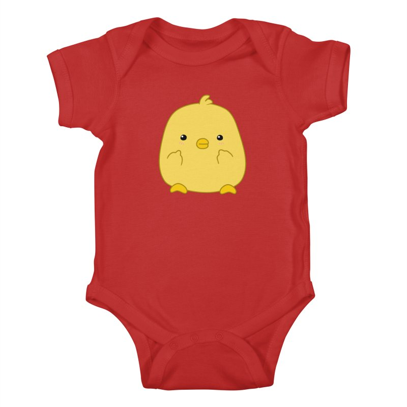 Cute Chick Has Had Enough Kids Baby Bodysuit by oneweirddude's Artist Shop