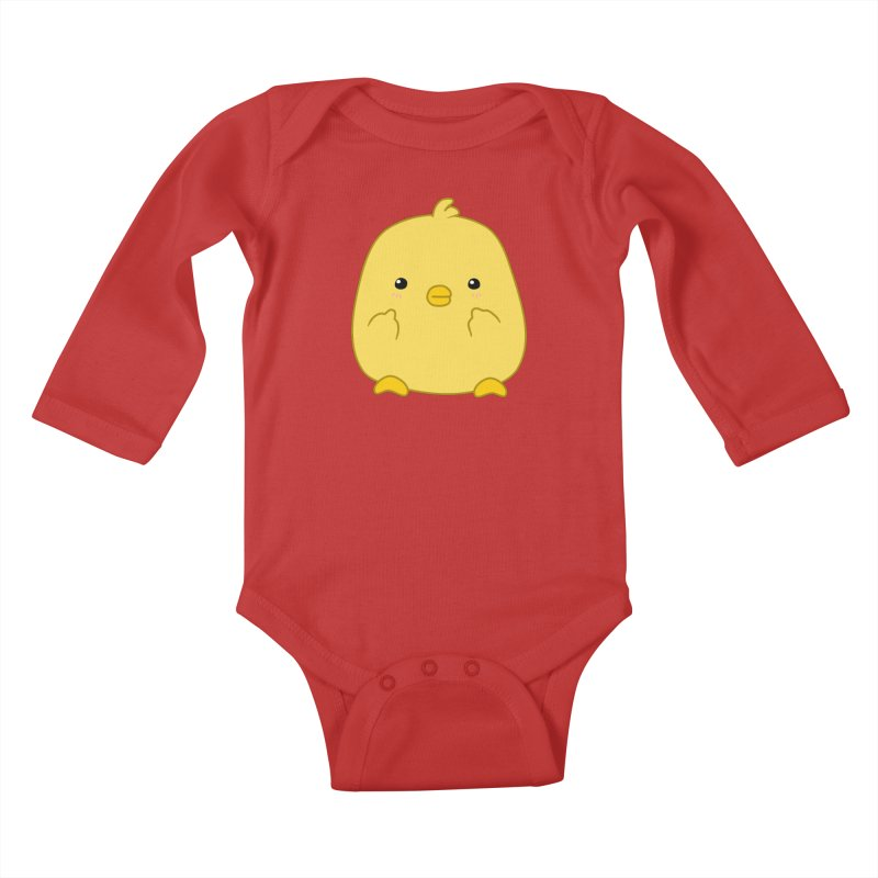Cute Chick Has Had Enough Kids Baby Longsleeve Bodysuit by oneweirddude's Artist Shop
