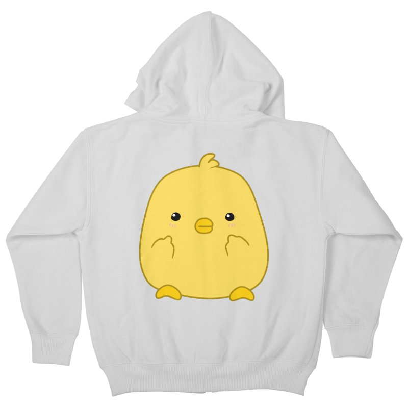 Cute Chick Has Had Enough Kids Zip-Up Hoody by oneweirddude's Artist Shop