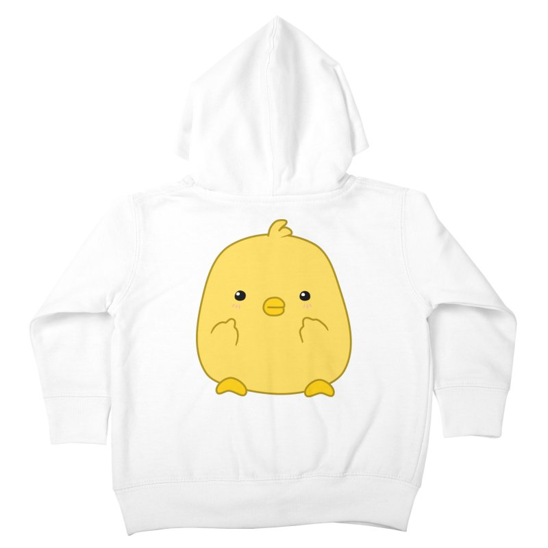 Cute Chick Has Had Enough Kids Toddler Zip-Up Hoody by oneweirddude's Artist Shop