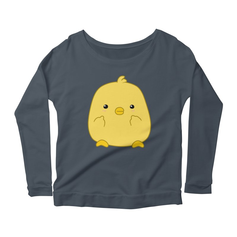 Cute Chick Has Had Enough Women's Scoop Neck Longsleeve T-Shirt by oneweirddude's Artist Shop
