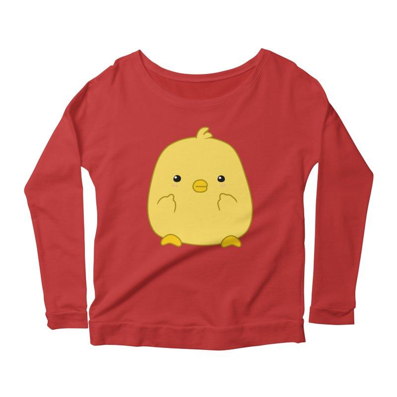 Cute Chick Has Had Enough Women's Longsleeve Scoopneck  by oneweirddude's Artist Shop