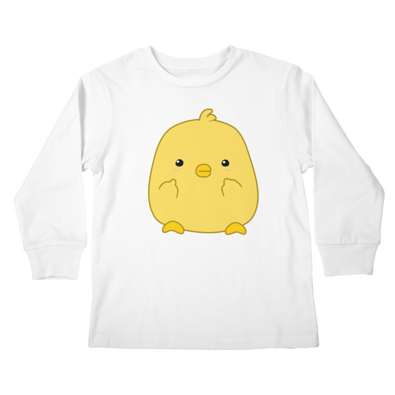 Cute Chick Has Had Enough Kids Longsleeve T-Shirt by oneweirddude's Artist Shop