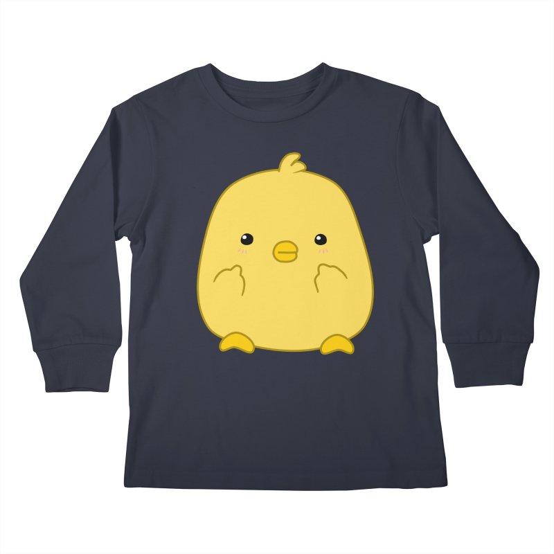 Cute Chick Has Had Enough Kids Longsleeve T-Shirt by oneweirddude's Artist Shop