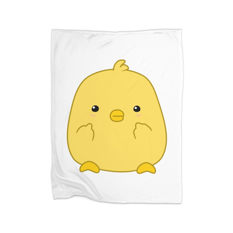 Cute Chick Has Had Enough Home Blanket by oneweirddude's Artist Shop