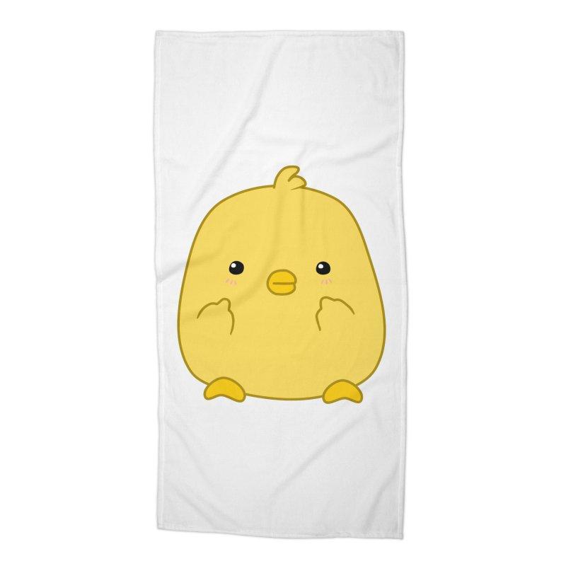 Cute Chick Has Had Enough Accessories Beach Towel by oneweirddude's Artist Shop