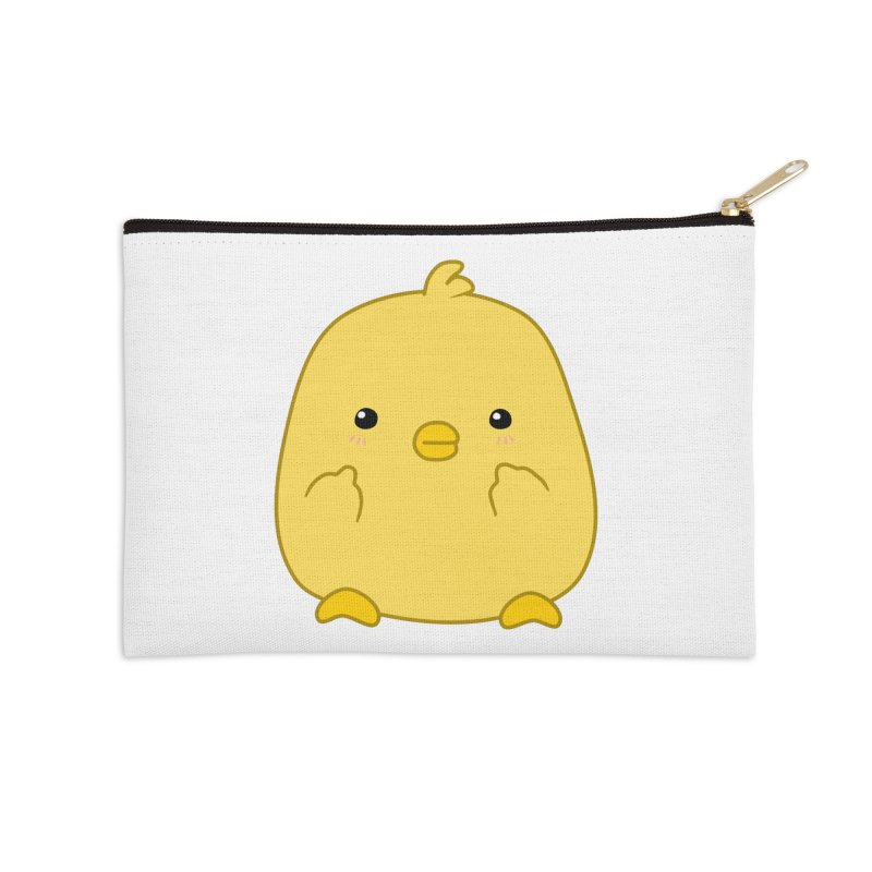 Cute Chick Has Had Enough Accessories Zip Pouch by oneweirddude's Artist Shop
